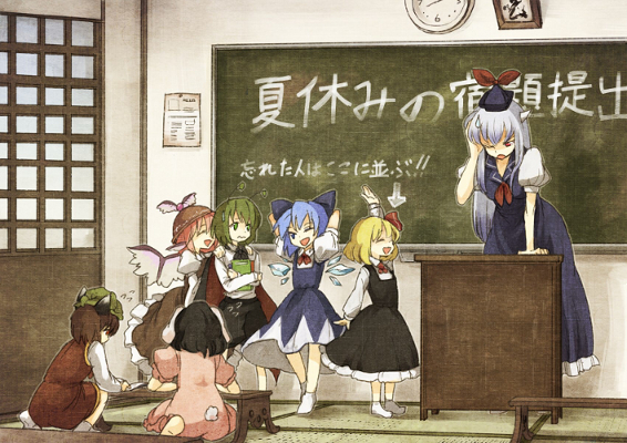 Cirno and her cadre of buffoons.